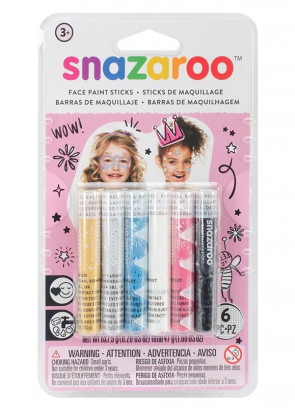 Snazaroo Girls Face Painting Sticks – 6 Pack