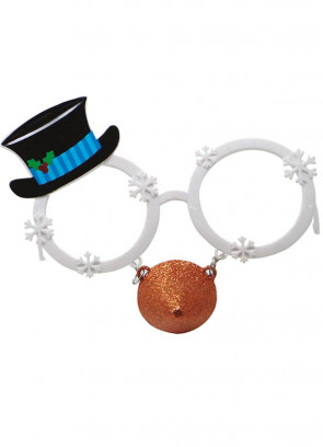 Snowman Glasses with Carrot Nose