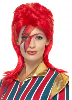 Space-Superstar Red Wig