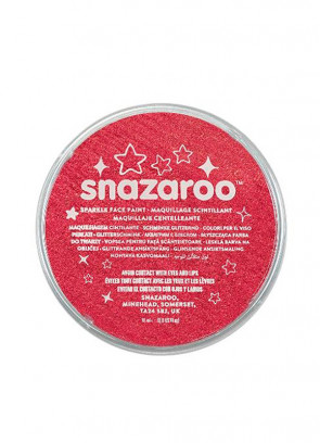 Snazaroo Sparkle Red Face Paint 18ml