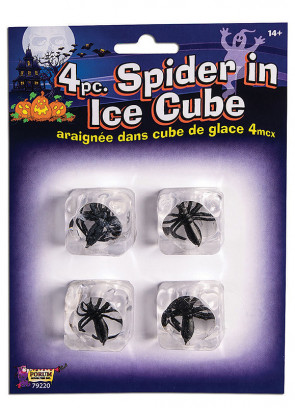 Prank Ice Cubes with Spiders Trapped Inside! - 4 pack