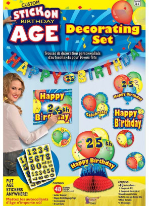 Birthday Stick on Age Decorating Kit