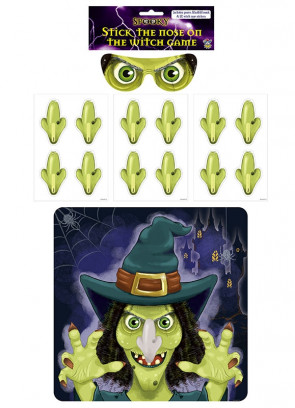 Stick the Nose on the Witch Party Game (14 Pieces)