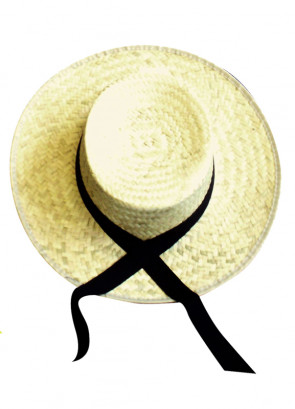 Straw Boater with Black Ribbon (Titanic)