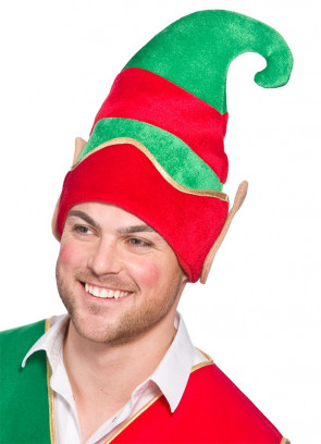 Elf Hat with Ears (Gold Brim)