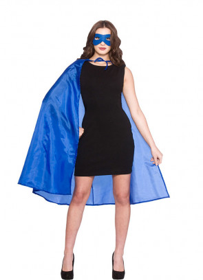 Superhero Cape and Mask - Blue