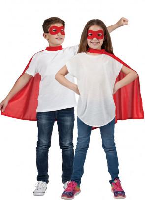 Superhero Mask & Cape Red