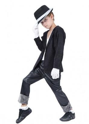 80's Superstar Black - Michael Jackson -  Boys Costume (Includes Hat)