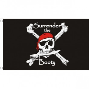 Pirate Surrender the Booty Flag 3X5