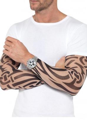 Tattoo Arm Sleeves Nude & Black 2Pk