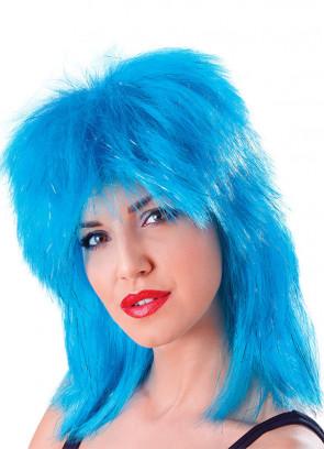 Tina Turner Tinsel Wig (Aqua)