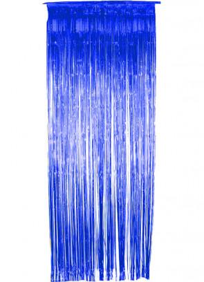 Tinsel Slash Curtain (Blue) 3ft x 9ft