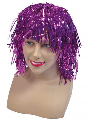 Pink Tinsel Wig