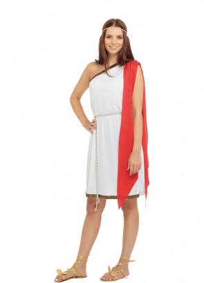 Roman Toga (Red) Costume