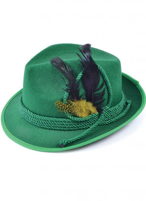 Traditional Bavarian Oktoberfest Felt Hat