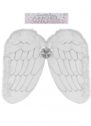 Angel Wings (Net Silver Glitter) 49x53cm