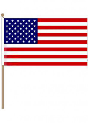 "United States (USA) Hand Flag 18"" x 12"""