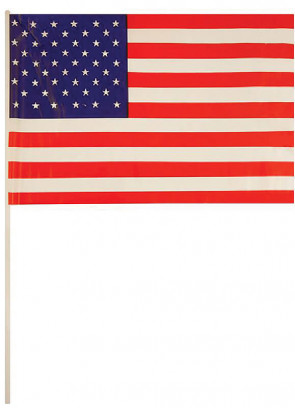 United States - USA Mini Hand Flag x50pcs 7''x11''