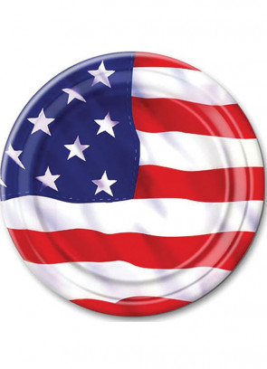 """USA Paper Plates 7"""" (8 Pack)"""