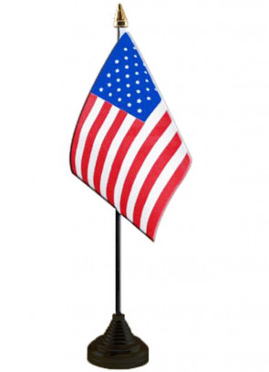 "United States - USA - Table Flag 6"" x 4"""