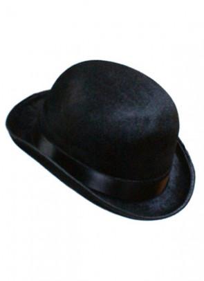 Bowler Hat Black (Velvet)