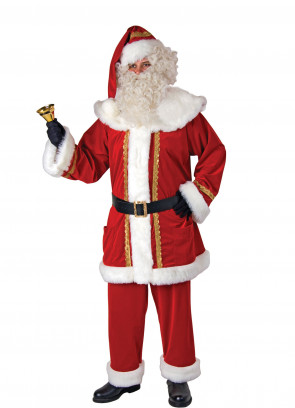 Santa Suit Gold Embroidery