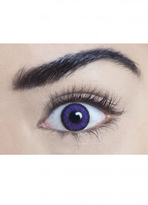 Violet Coloured Contact Lenses - One Day