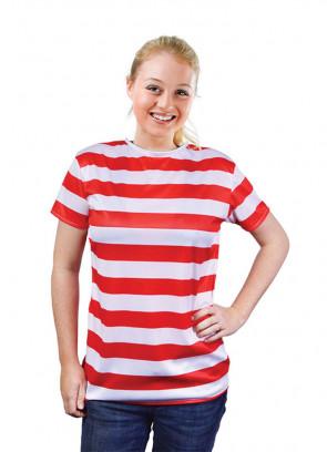 Waldo Red & White Striped T-Shirt Costume