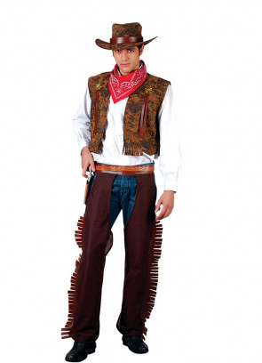 Western Cowboy (Brown) Costume