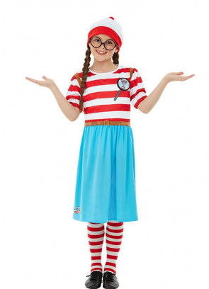 Where's Wally Wenda 3D Print Girls Costume
