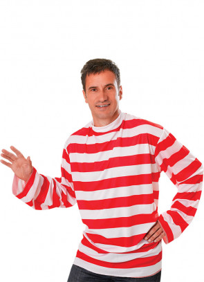 Waldo Red & White Striped Shirt Costume