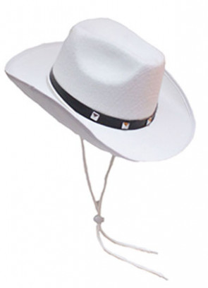 Cowboy Hat White Studded