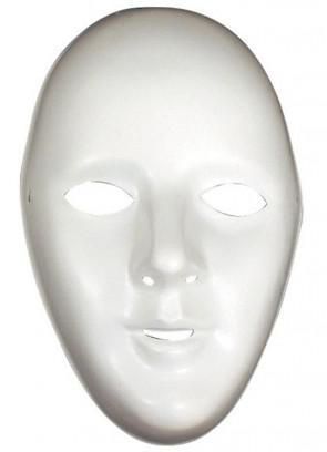 White Plastic Robot Mask (Female)