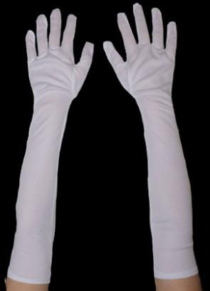 Gloves Long Plain Matt (White)