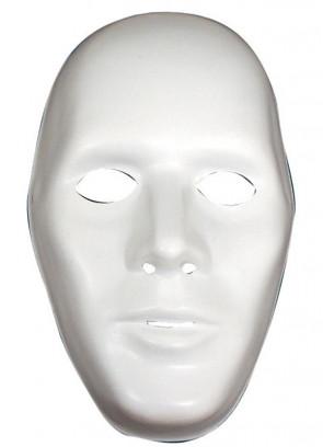 White Plasic Robot Mask (Male)