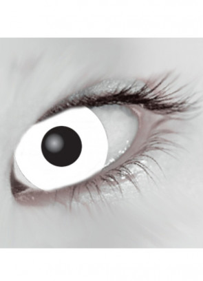 White Mini Sclera Contact Lenses (17mm) - One Day Wear