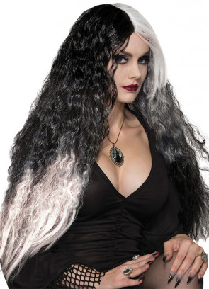 Wicked Mist Wig - Black / White