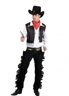 Wild West Cowboy Costume - Black