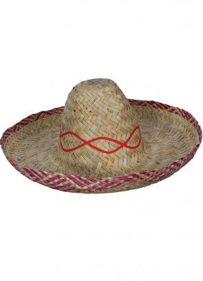 Mexican Straw Sombrero – Plain Natural Straw 46cm