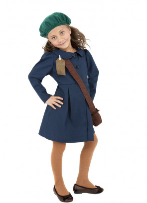 WWII Evacuee Girl (Blue) Costume