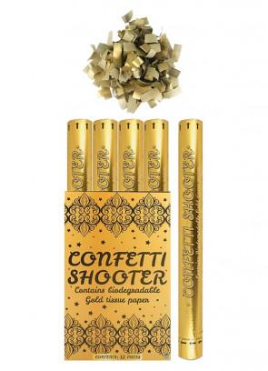 Gold Paper Confetti Cannon - 50cm - Biodegradable - x12