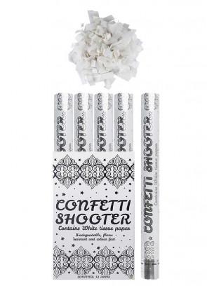 White Paper Confetti Cannon - 50cm - Biodegradable x12