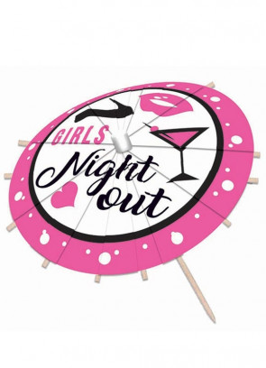 Girls Night Out Drinks Umbrella - 12 pack