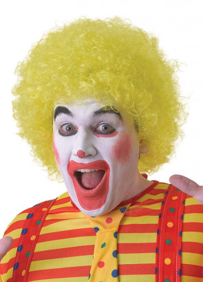 Yellow Clown Afro Pop Wig
