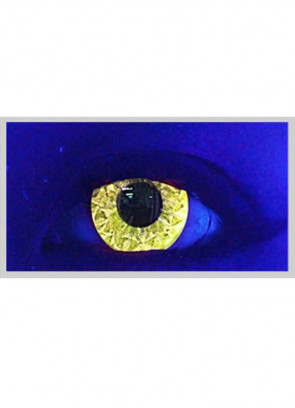 Yellow Abz Glitter UV Contact Lenses - 3 Month Wear