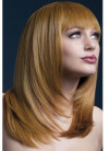 Deluxe Tanja Shoulder Length Fringed Wig - Ginger - Styleable