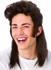 80s Brown Mullet Wig