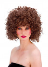 80s Disco Perm Short Brown Wig