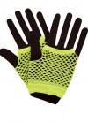 80s Fishnet Gloves Neon Yellow- Short