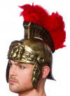 Roman Helmet with Red Feather Plume